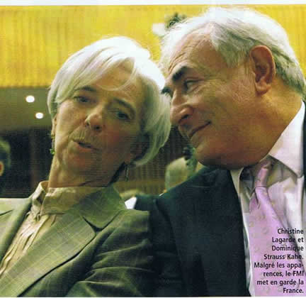 Christine Lagarde et Dominique Strauss Kahn