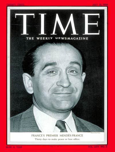 TIME Magazine Cover: Pierre Mendes-France -- July 12, 1954