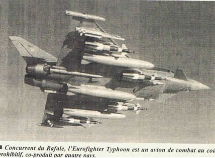Concurrent du Rafale, l'Eurofighter Typhoon